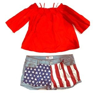Pants - Red White & Blue Outfit !